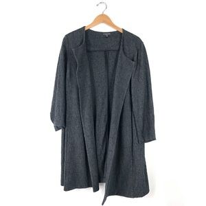 Eileen Fisher Textured Long Open Jacket